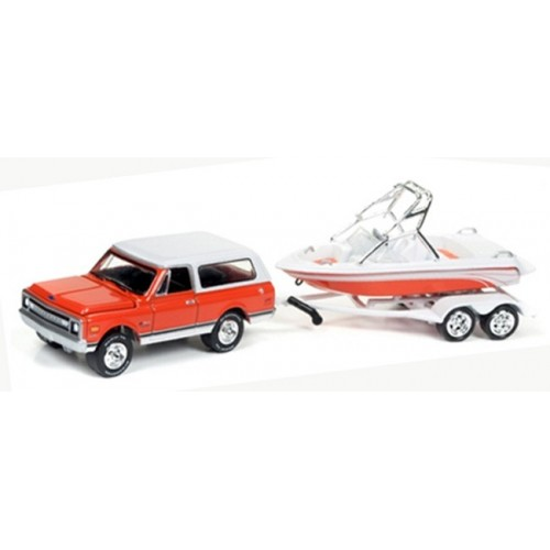 Gone Fishing Release 2A - 1969 Chevy Blazer with Boat on Trailer
