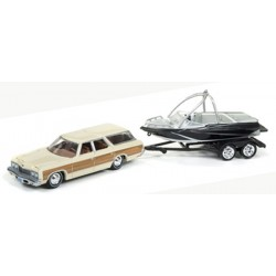 Gone Fishing Release 2A - 1973 Chevy Caprice Wagon with Boat on Trailer