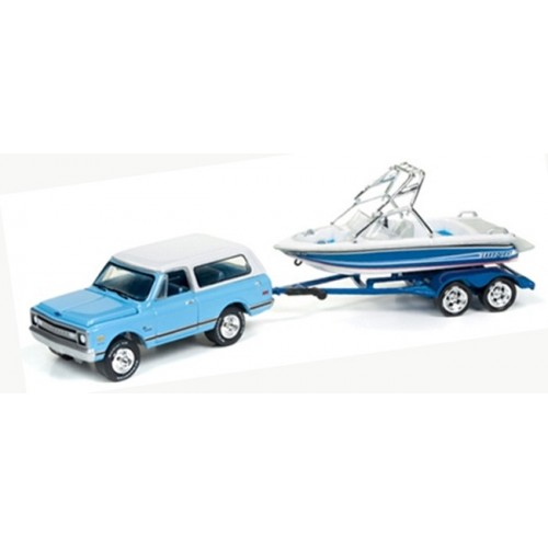 Gone Fishing Release 2B - 1969 Chevy Blazer with Boat on Trailer