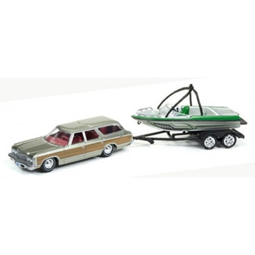 Gone Fishing Release 2B - 1973 Chevy Caprice Wagon with Boat on Trailer