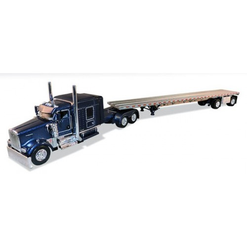 DCP Kenworth W900 with Wilson Flatbed Trailer