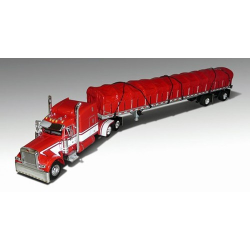 DCP Peterbilt 379 with Covered Wagon Trailer - Dan Ribble