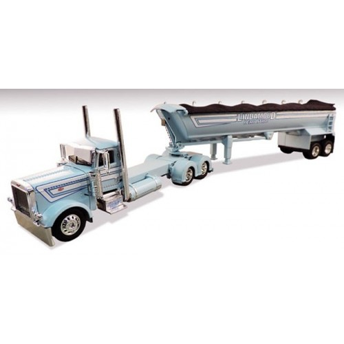 DCP Peterbilt 389 Day Cab with MAC End Dump - Lindamood