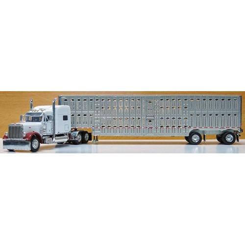 DCP Peterbilt 379 with Wilson Livestock Trailer - Hilton Trucking