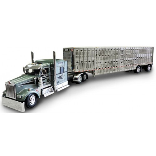 DCP Kenworth W900 with Wilson Livestock Trailer - Mihm Brothers