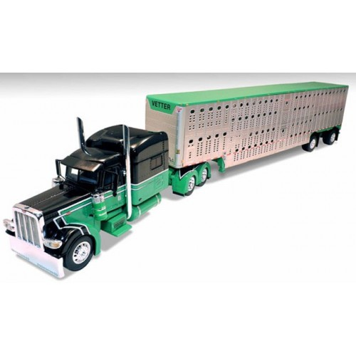 DCP Peterbilt 389 with Wilson Livestock Trailer - Vetter