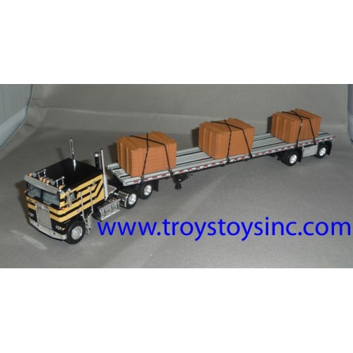 DCP Kenworth K100 with Spread Axle Flatbed Trailer