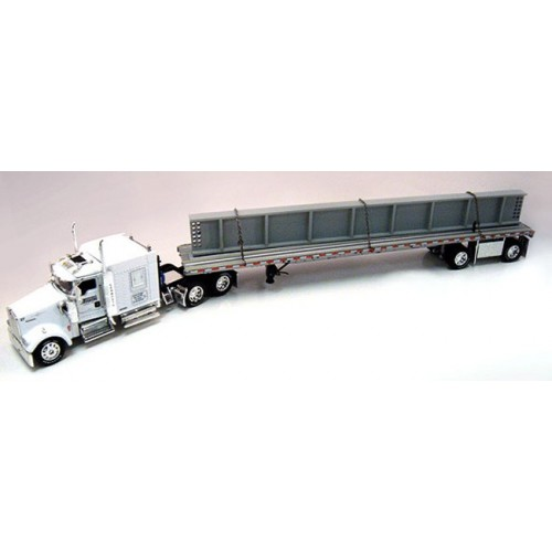 DCP Kenworth W900 with Flatbed Trailer and I-Bean Load