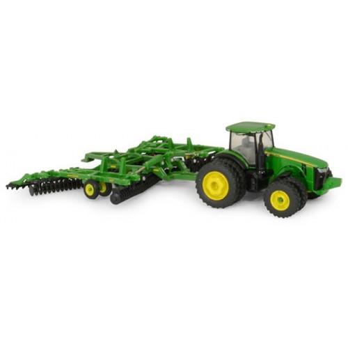 John Deere 8320R Tractor with 637 Disk
