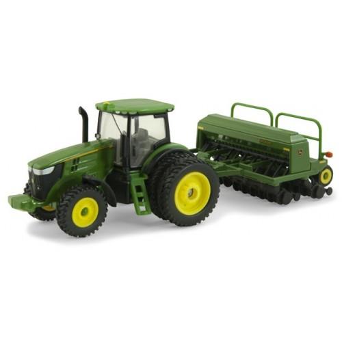 John Deere 7215R Tractor with 1590 Grain Drill