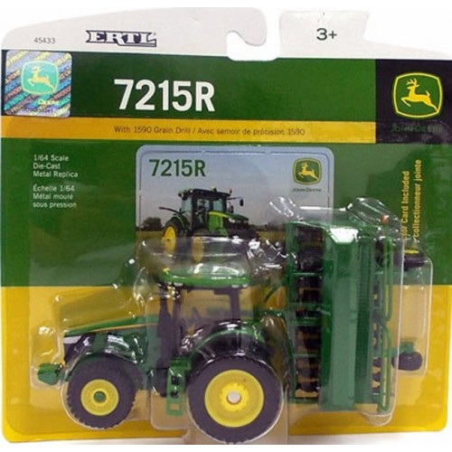 John Deere 7215R Tractor with 1590 Grain Drill