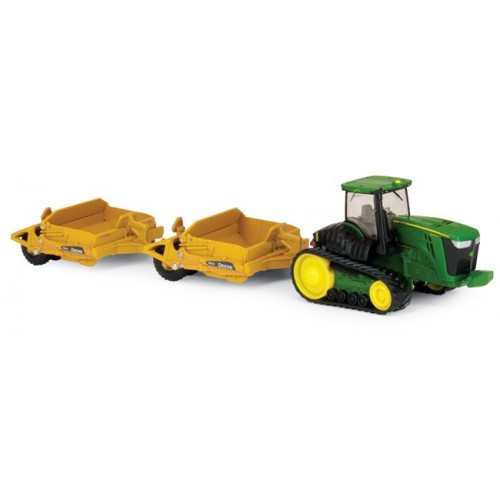 John Deere 9560RT Tractor with Pan Scrapers