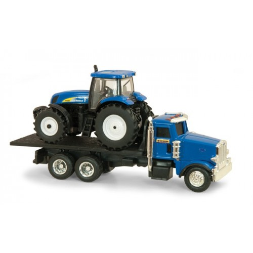 Peterbilt Model 367 with New Holland T7030 Tractor