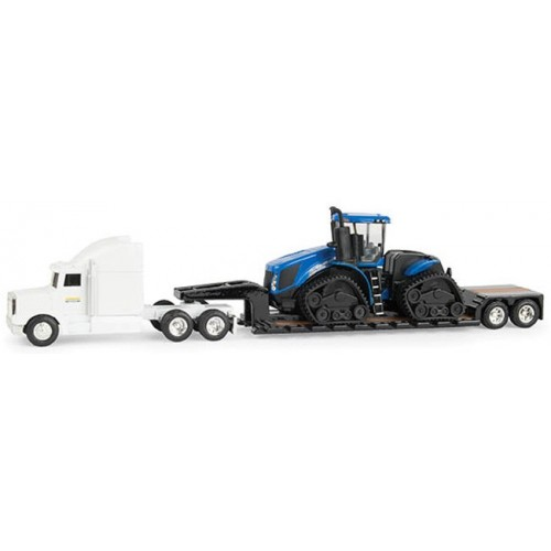 New Holland T9.645 Tractor with Semi and Lowboy Trailer