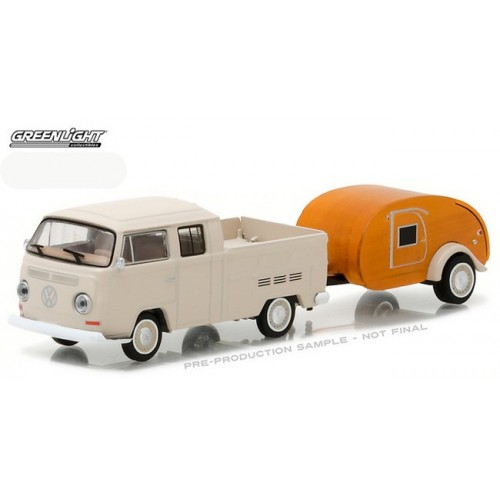 Hitch and Tow Series 10 - 1968 Volkswagen T-2 Double Cab with Teardrop Trailer