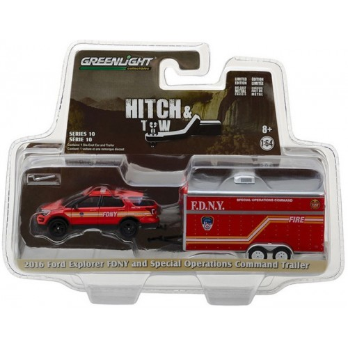 Hitch and Tow Series 10 - 2016 Ford Explorer FDNY and Command Trailer