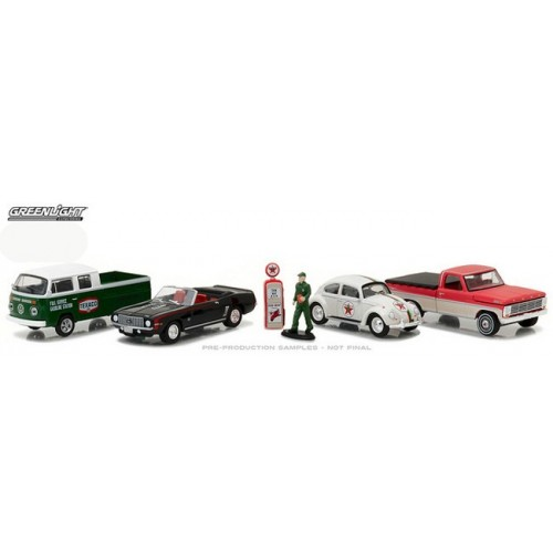 Greenlight Multi Car Diorama - Vintage Texaco Gas Station