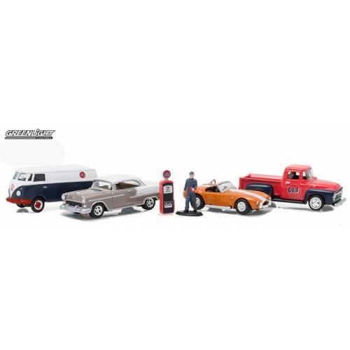 Greenlight Multi Car Diorama - Gulf Oil