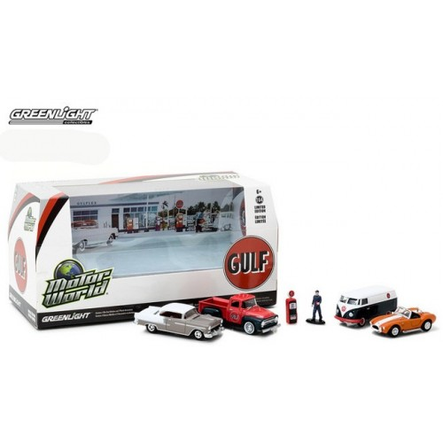 Greenlight Multi Car Diorama - Gulf Oil