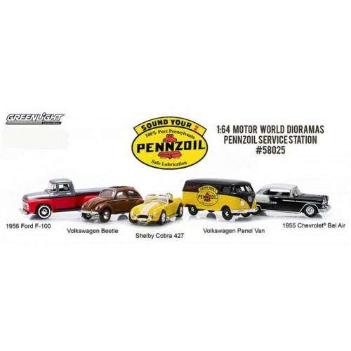 Greenlight Multi Car Diorama - Pennzoil