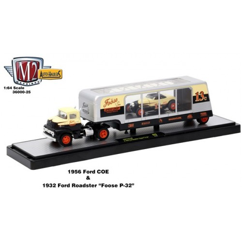 Auto-Haulers Release 25 - 1956 Ford COE and 1932 Ford Roadster