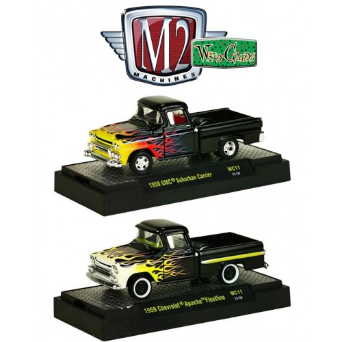 M2 Machines Wild Cards Release 11 - 1958 GMC and 1959 Chevy Truck Set
