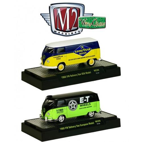 M2 Machines Wild Cards Release 9 - 1960 Volkswagen Delivery Van Set