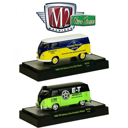 M2 Machines Wild Cards Release 9 - 1960 Volkswagen Delivery Van Set
