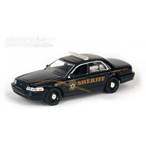 Hot Pursuit Troy's Toys Exclusive - 2008 Ford Crown Victoria Johnson County 331