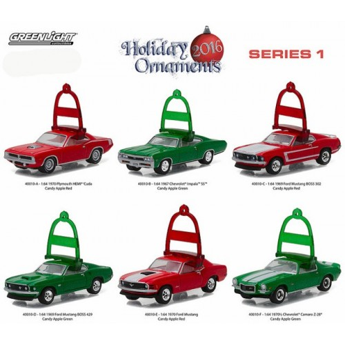Holiday Ornaments 2016 Series 1 - SET