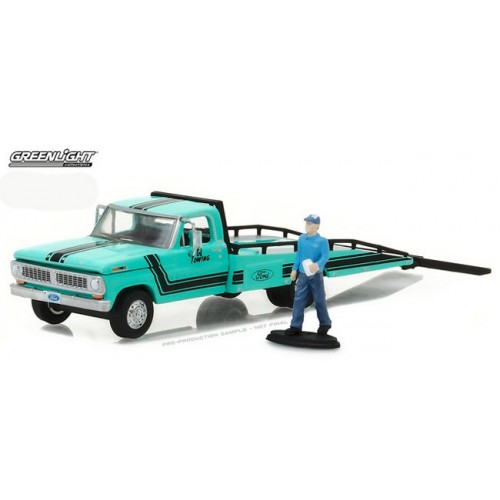 Hobby Exclusive - 1970 Ford F-350 Ramp Truck with Figure