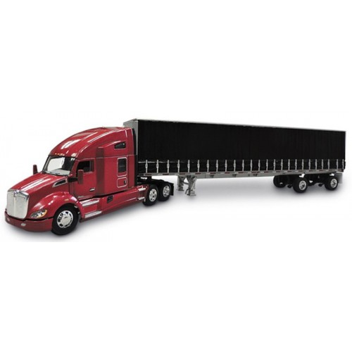 DCP Kenworth T680 with Utility Tautliner Spread Axle Trailer