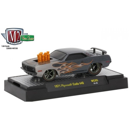 M2 Machines Wild Cards Release 5 - 1971 Plymouth Cuda 440