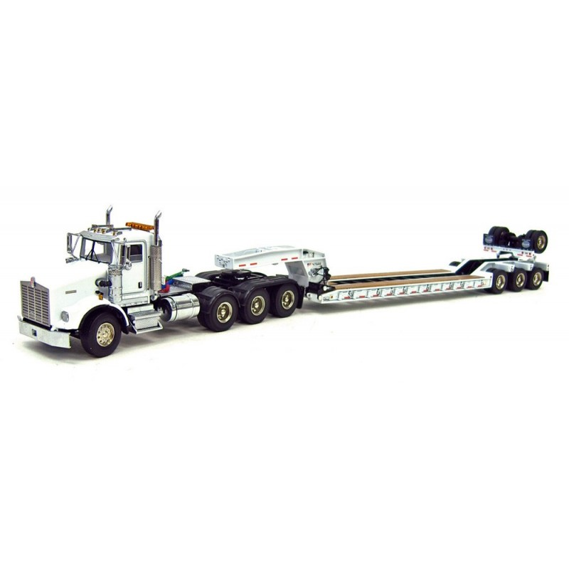 1593 Kenworth T800w With 4 Axle Rogers Lowboy also  on kenworth t800w