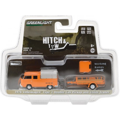 Hitch and Tow Series 11 - 1978 Volkswagen Double Cab and Utility Trailer