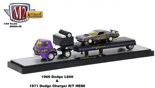 Auto-Haulers Release 26 - 1969 Dodge L600 and 1971 Dodge Charger R/T HEMI