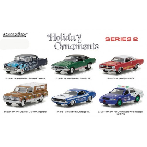 Holiday Ornaments 2017 Series 2 - Six Car Set