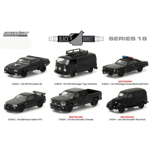 Black Bandit Series 18 - Six Car Set
