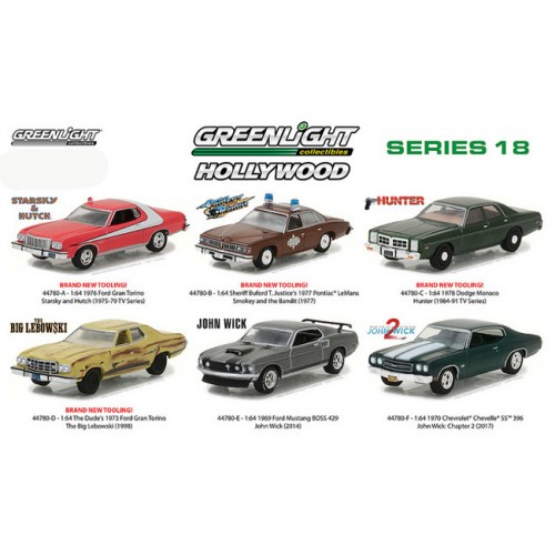 Hollywood Series 18 - Six Car Set