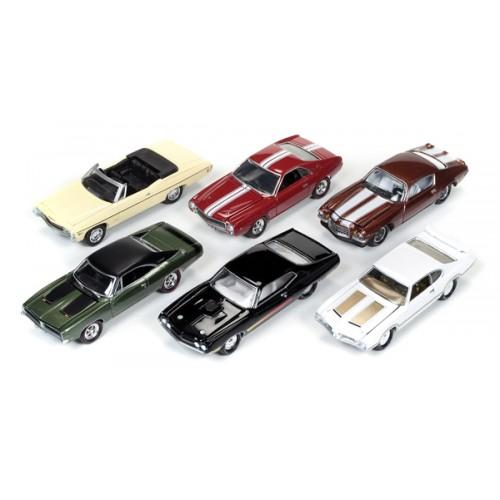 Johnny Lightning Muscle Cars U.S.A. Release 3D - Six Car Set