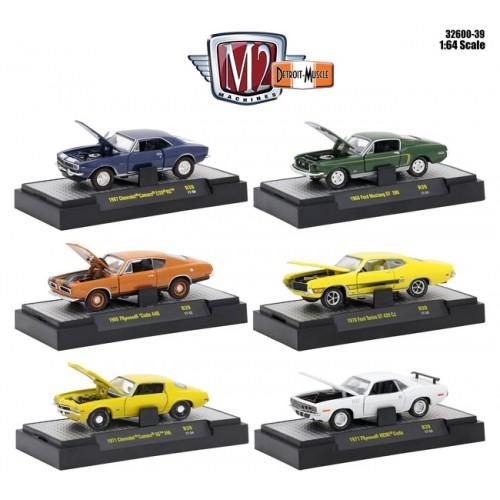 Detroit Muscle Release 39 - Six Car Set