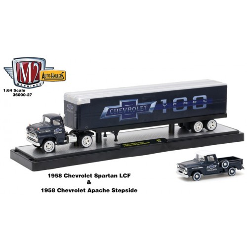 Auto-Haulers Release 27 - 1958 Chevy Spartan LCF with Dry Van Trailer Chevy 100 Years