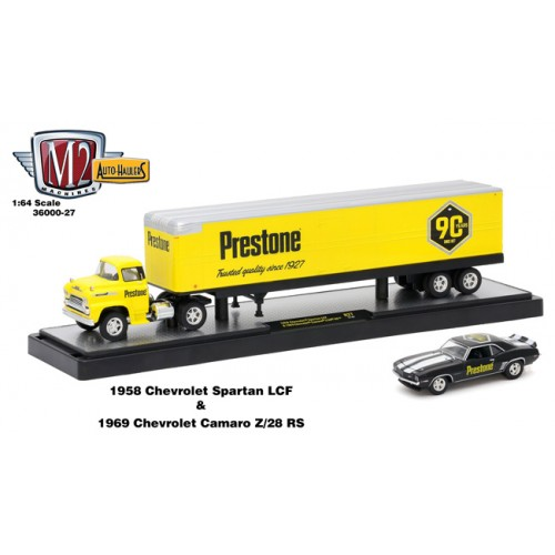 Auto-Haulers Release 27 - 1958 Chevy Spartan LCF with Dry Van Trailer Prestone
