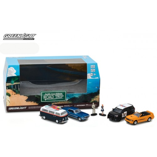 Greenlight Multi Car Diorama - Pacific Coast Highway Road Trip