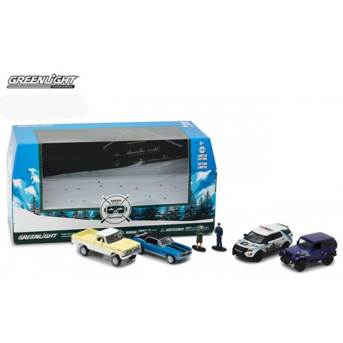 Greenlight Multi Car Diorama - Aspen Ski Lodge