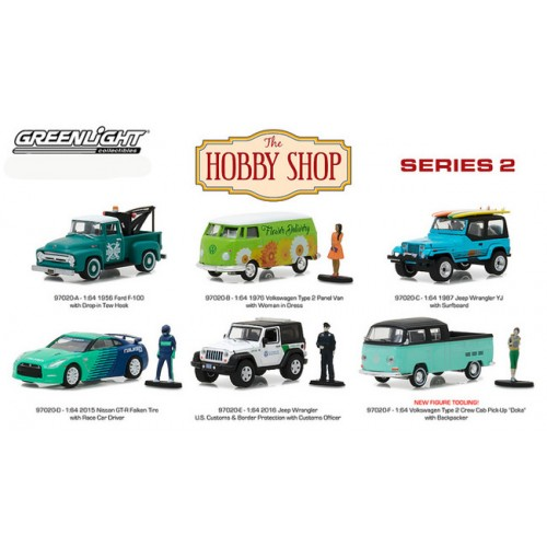 The Hobby Shop Series 2 - Six Car Set
