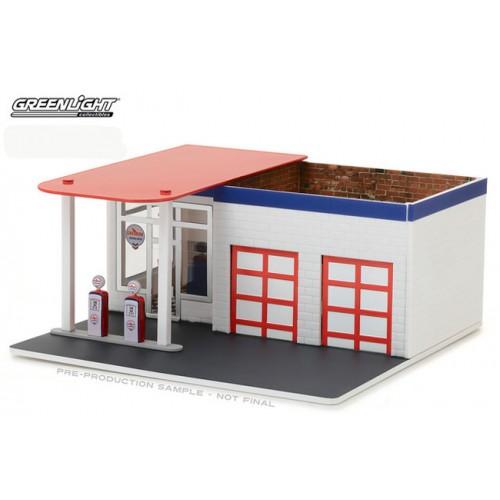 Mechanic's Corner Series 2 - Vintage Gas Station Chevron