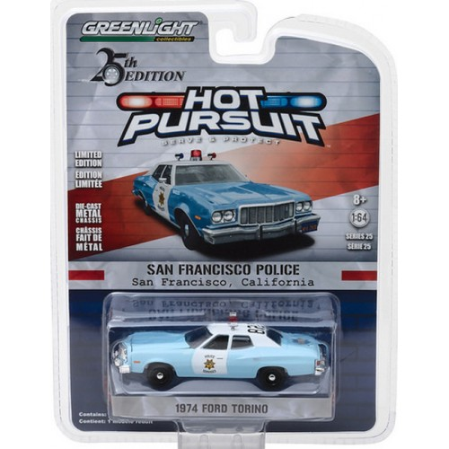 Hot Pursuit Series 25 - 1974 Ford Torino San Francisco Police