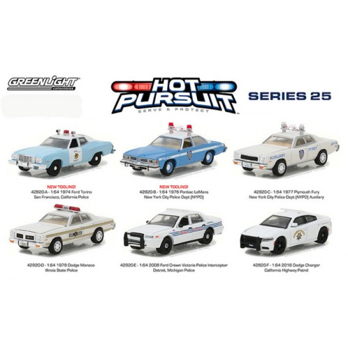 Hot Pursuit Series 25 - Six Car Set