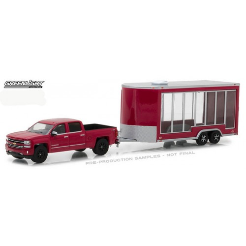 Hitch and Tow Series 12 - 2016 Chevy Silverado and Glass Display Trailer